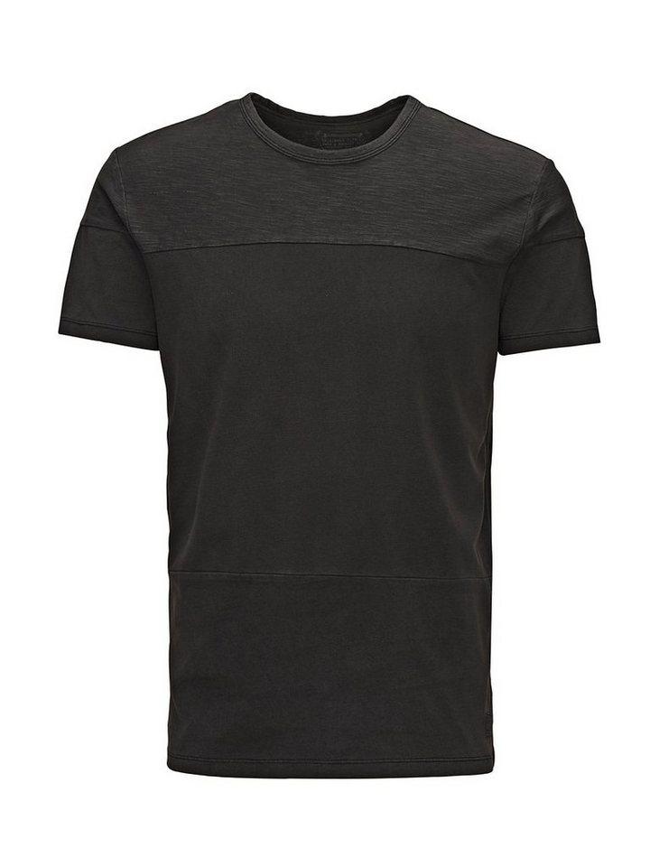 Jack & Jones Baumwollpiqué Regular-Fit- T-Shirt in Black