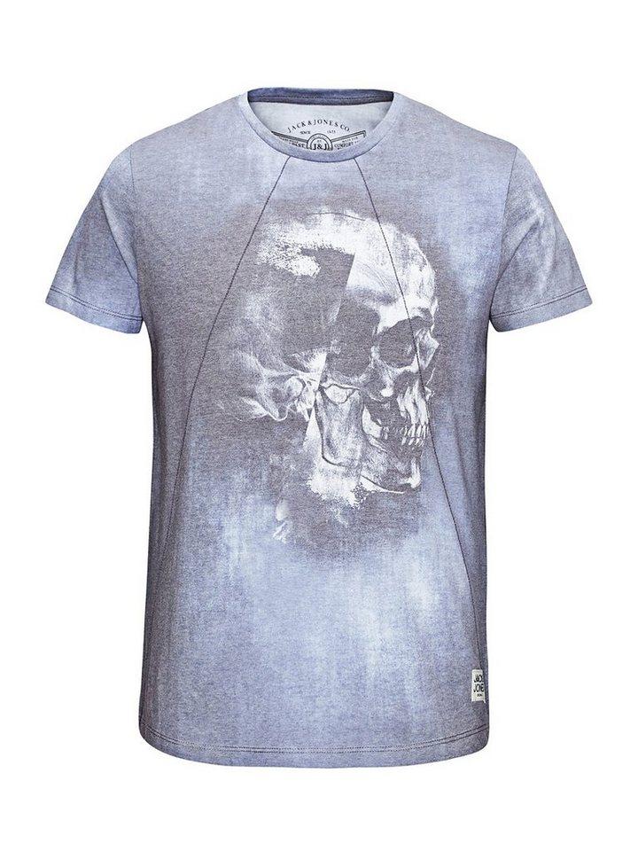 Jack & Jones Komplett überfärbtes T-Shirt in Navy Blazer