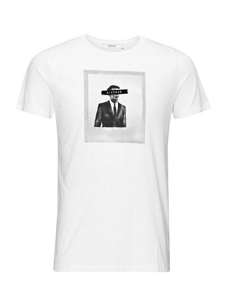Jack & Jones Foto-Print, Slim-Fit- T-Shirt in White