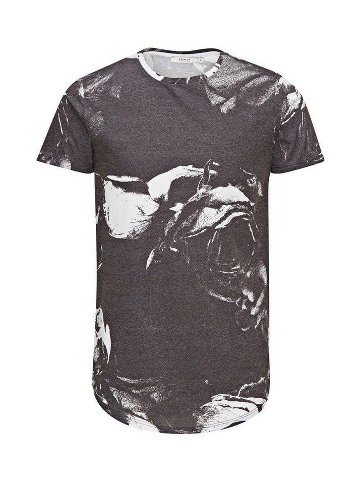 Jack & Jones Blumen-Print T-Shirt in Black 1