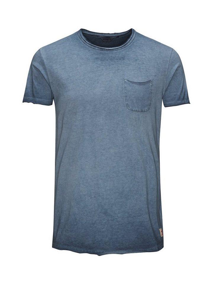 Jack & Jones Überfärbtes Long-Fit- T-Shirt in Total Eclipse