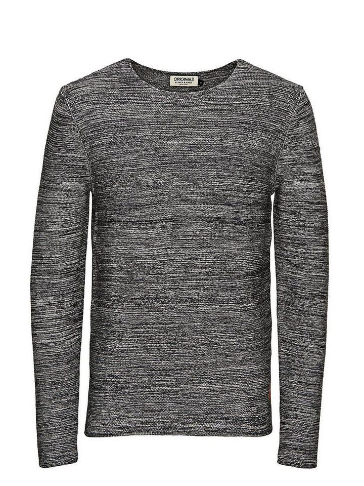 Jack & Jones Klassischer Regular-Fit- Pullover in Grey Melange
