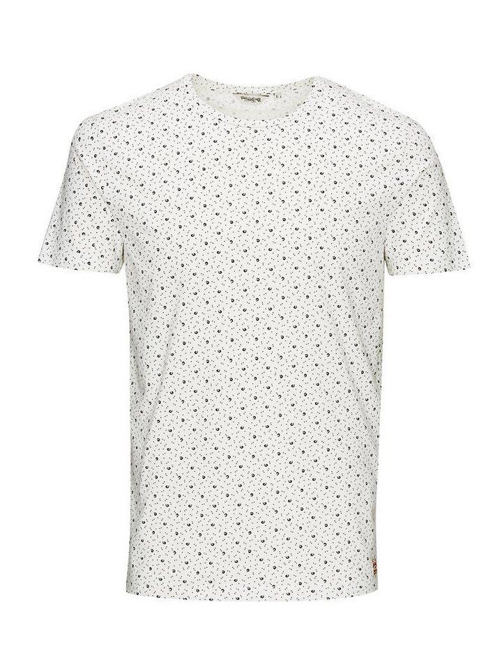 Jack & Jones Gemustert T-Shirt in Cloud Dancer