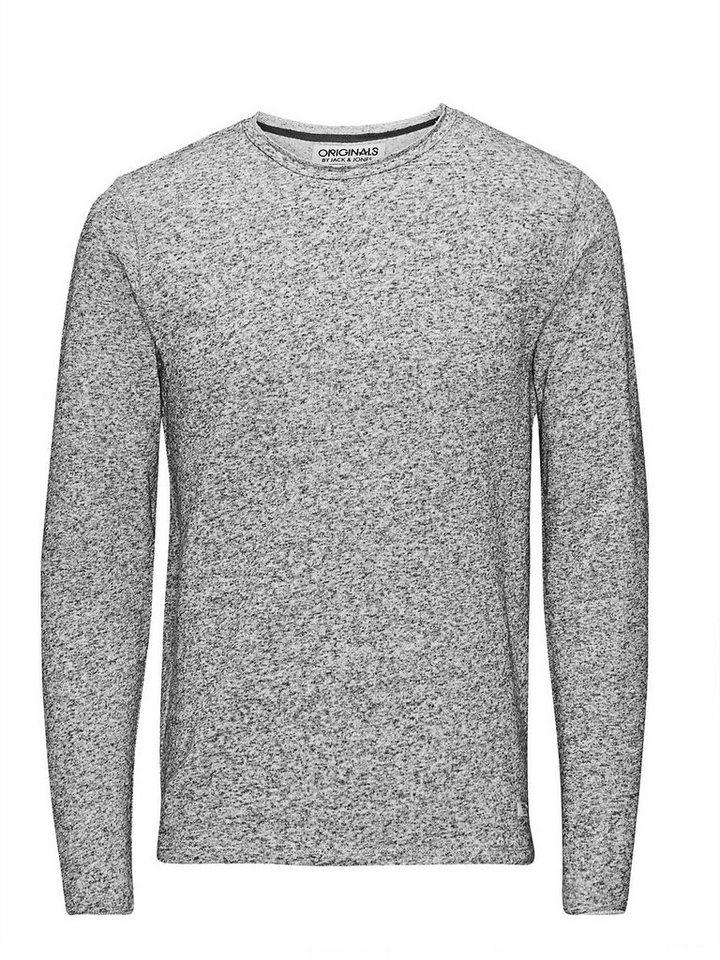 Jack & Jones Regular Fit, Rundhalsausschnitt- Sweatshirt in Grey Melange