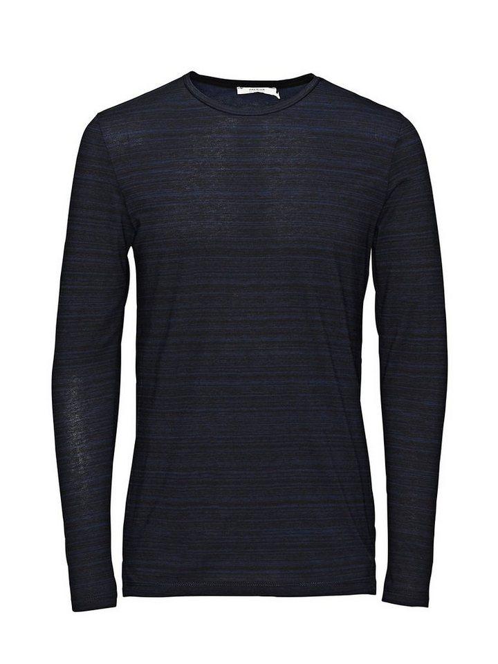 Jack & Jones Schlichtes Long-Fit- T-Shirt mit langen Ärmeln in Navy Blazer