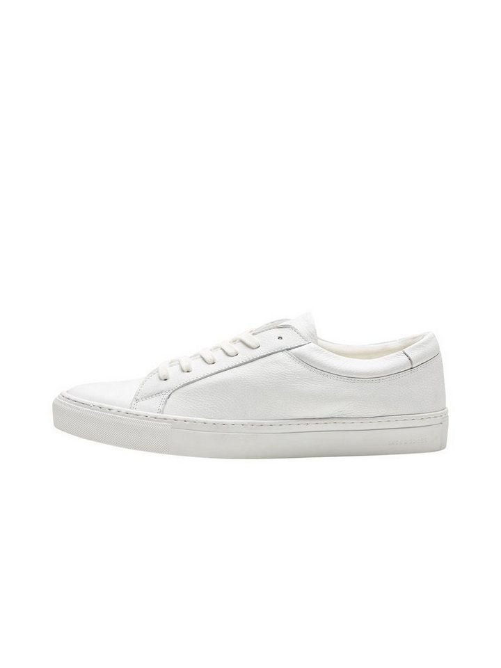 Jack & Jones Lässige Leder- Sportschuhe in Bright White