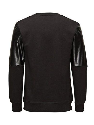 Jack & Jones Lederimitation- Sweatshirt