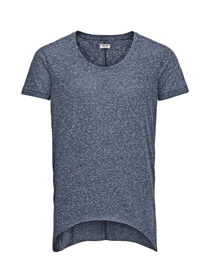 Jack & Jones Long-Fit- T-Shirt in Dress Blues