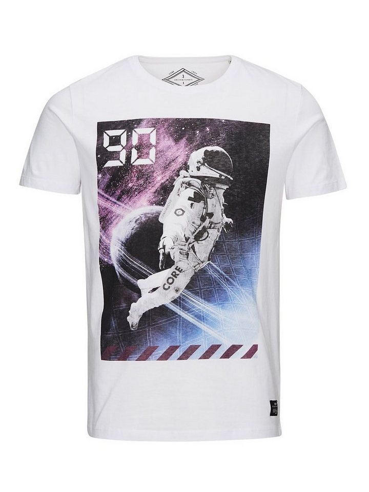 Jack & Jones Bedrucktes Slim-Fit- T-Shirt in White