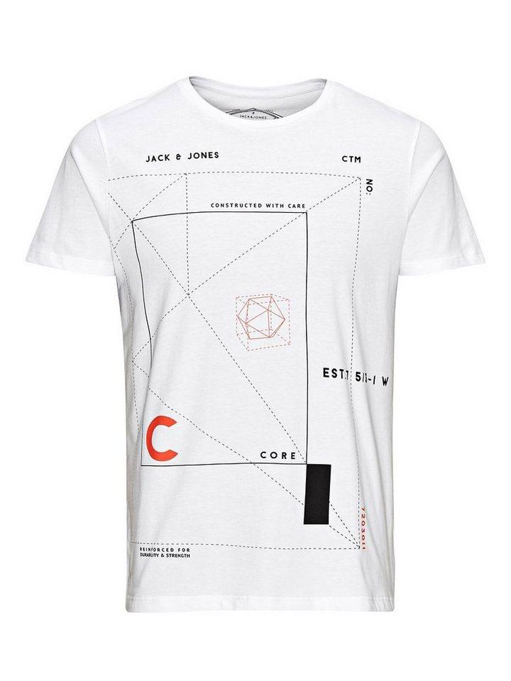 Jack & Jones Grafik T-Shirt in White