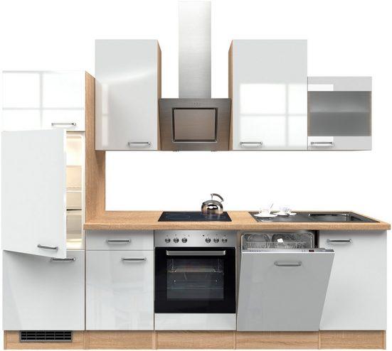 Küchenzeile mit E-Geräten »Florenz«, Breite 280 cm
