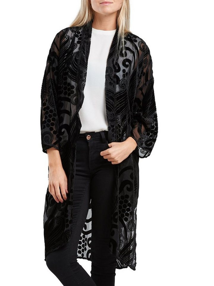 Only Detaillierter Kimono in Black