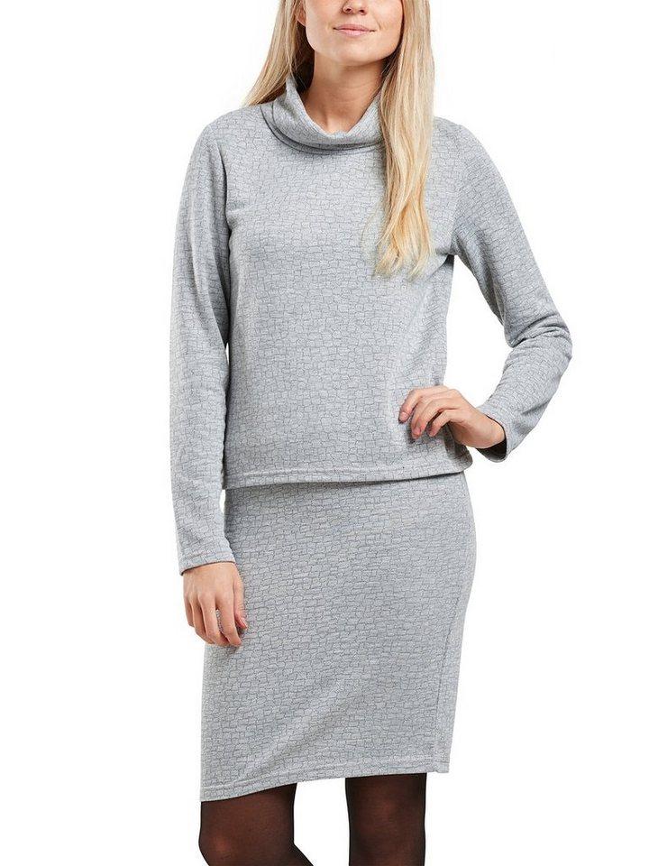 Only Einfarbiger Rollkragen in Light Grey Melange