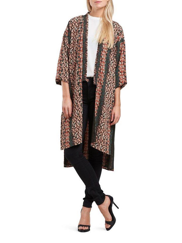 Only Langer lässiger Kimono in Tarmac