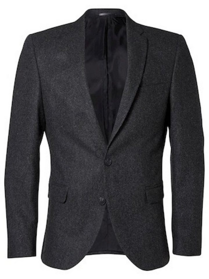 Selected Slim-Fit- Blazer in Grey Melange