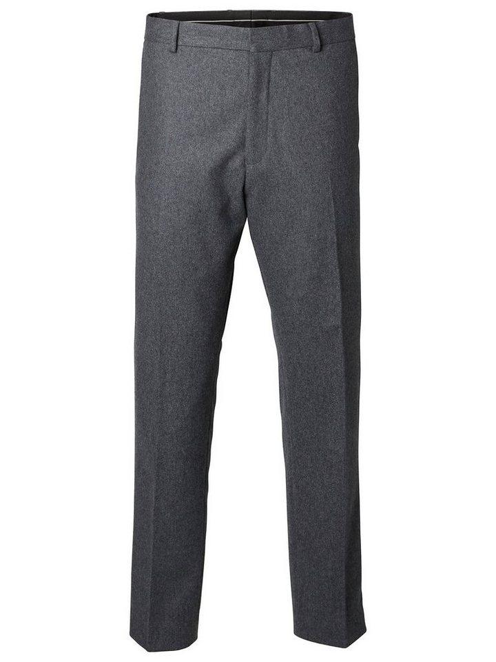 Selected Anti-Fit- Hosen in Grey Melange