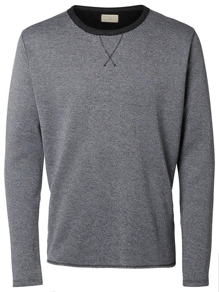 Selected Crew-Neck- Pullover in Grey