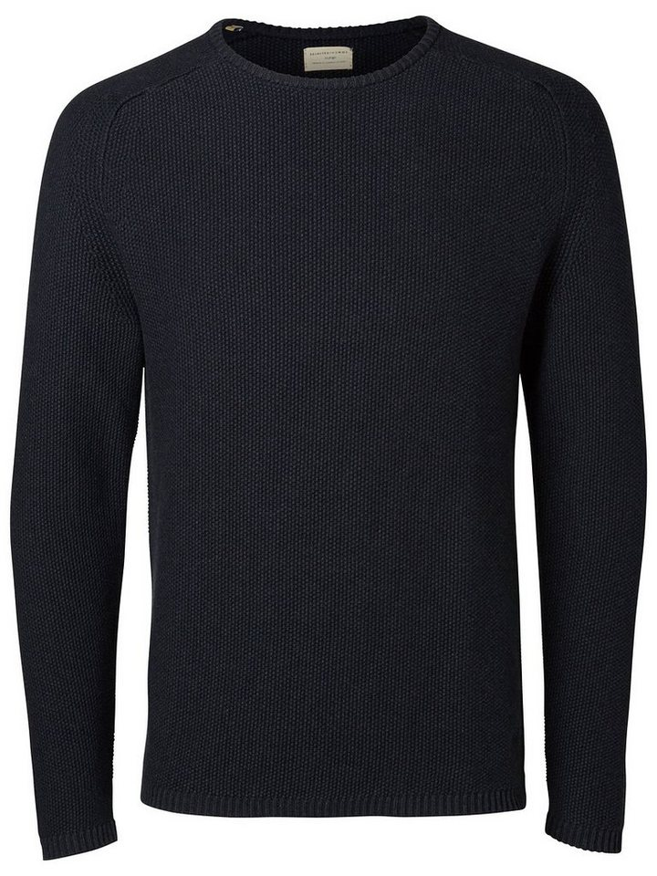 Selected Crew Neck- Strickpullover in Dark Navy
