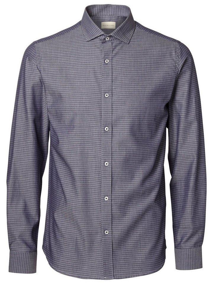 Selected Slim-Fit- Hemd in Grey