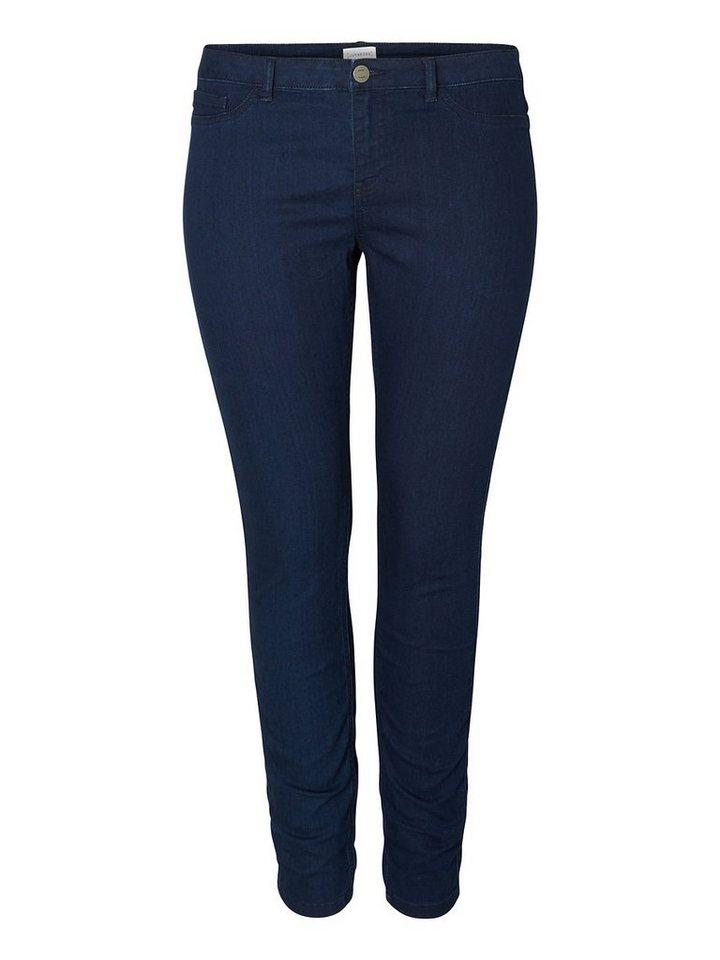 JUNAROSE JRQUEEN normal waist Slim Fit Jeans in Dark Blue Denim