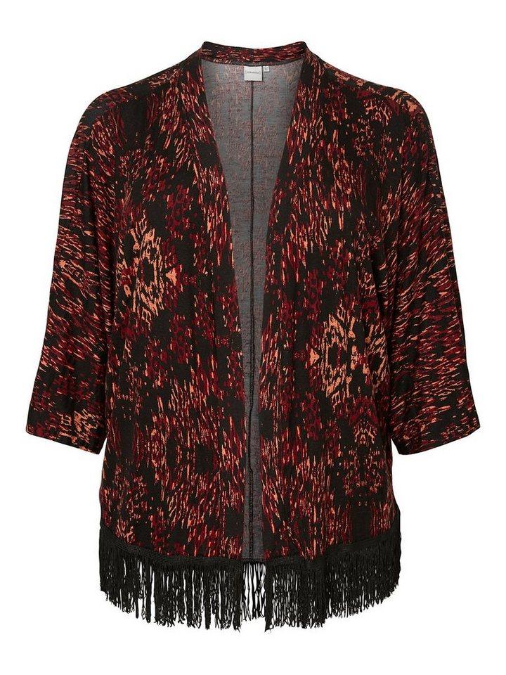 JUNAROSE Fransen- Kimono in Rosewood