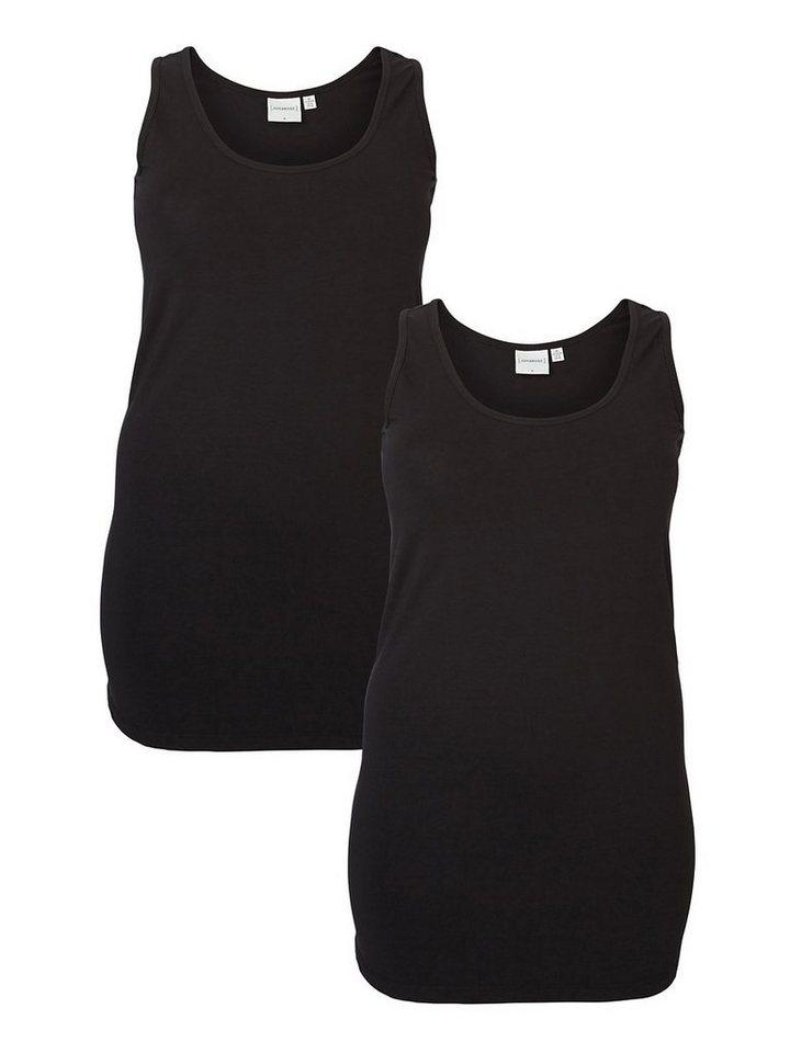JUNAROSE Basic Oberteil ohne Ärmel in Black
