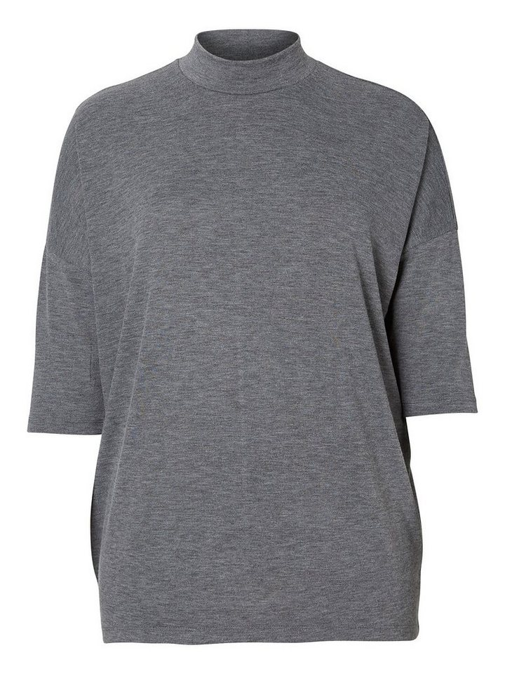 JUNAROSE Jersey- T-Shirt in Medium Grey Melange