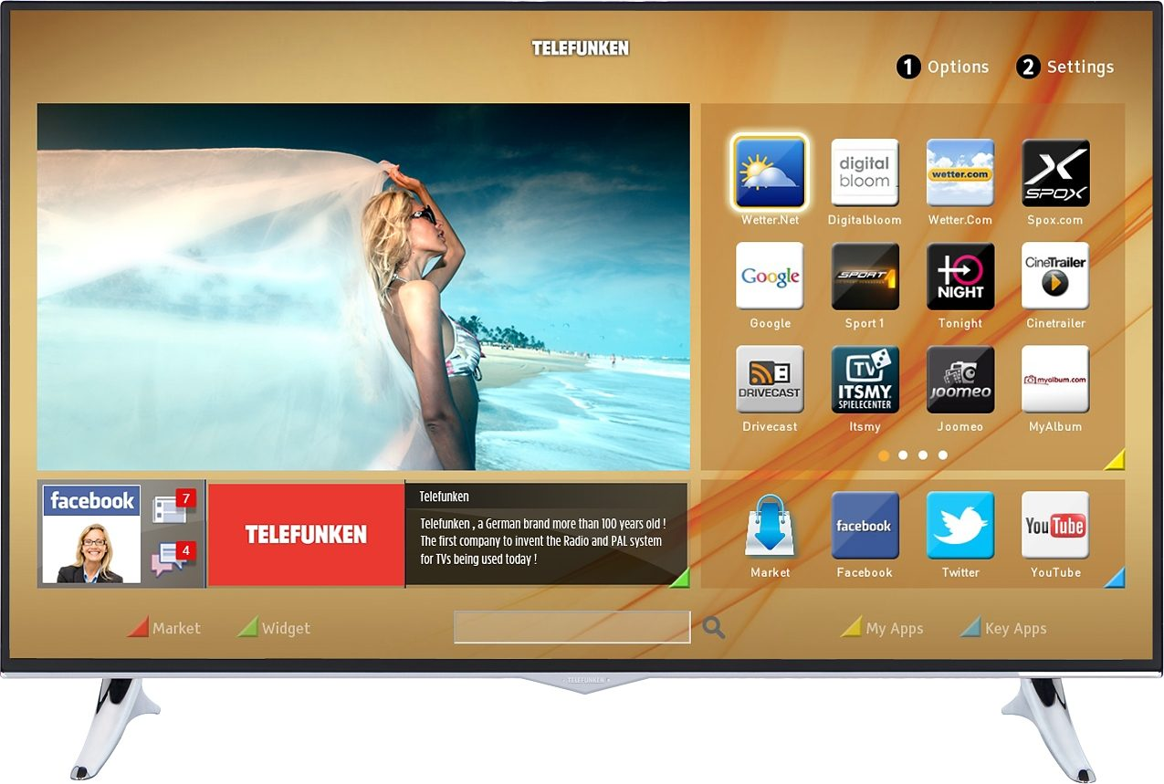 Telefunken D40U300M4, LED Fernseher, 102 cm (40 Zoll), 2160p (4K Ultra HD), Smart-TV