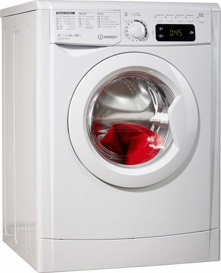 Indesit Waschmaschine EWE 81484 W DE, A+++, 8 kg, 1400 U/Min in weiß
