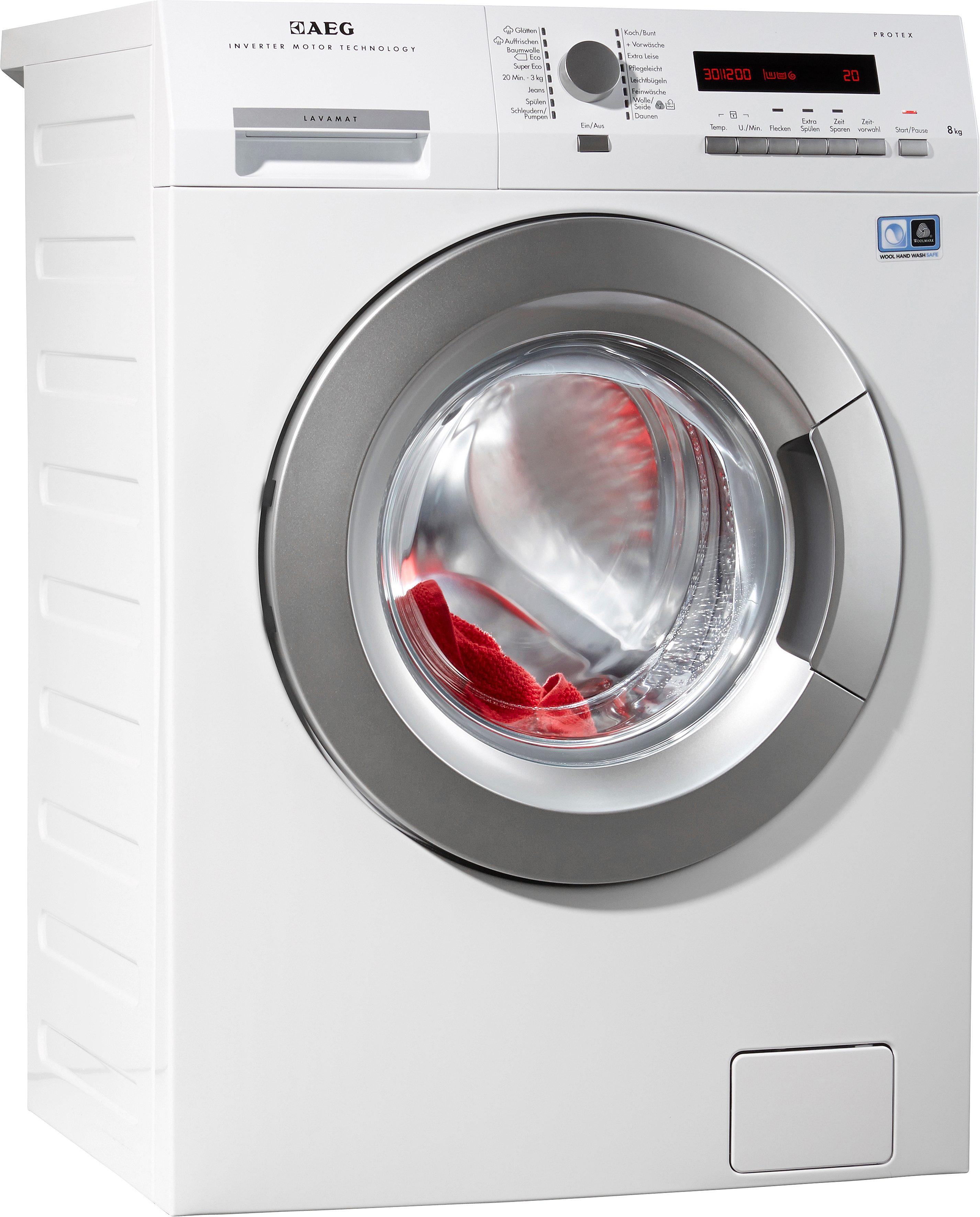 AEG Waschmaschine LAVAMAT L74484WVFL, A+++, 8 kg, 1400 U/Min