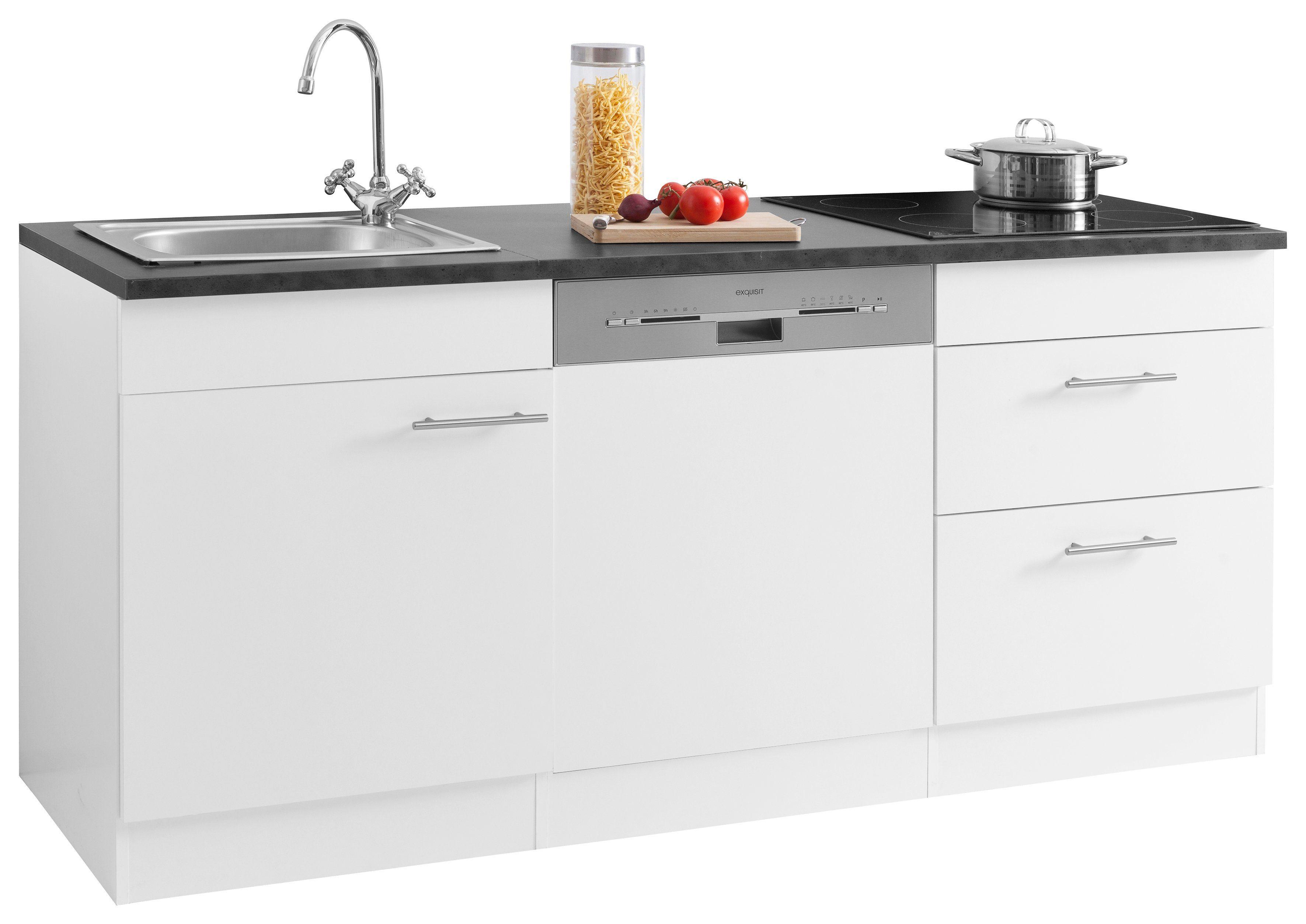 Miniküche Mit Kühlschrank 180 Cm : Optifit küchenzeile mini« mit e geräten breite cm online