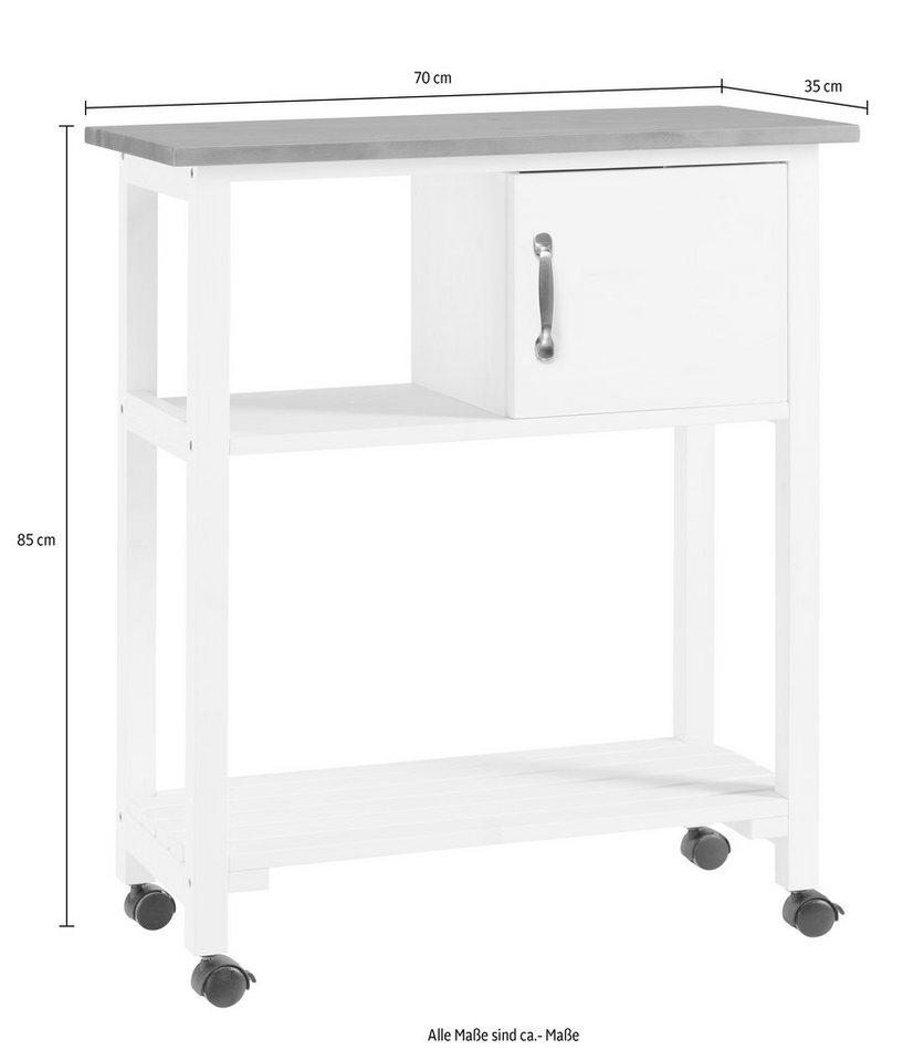 Küchenwagen »Aulum« in gelaugt-geölt