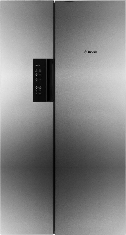 BOSCH Side-by-Side KAN92VI35, A++, 175,6 cm hoch, Ja, No Frost im Gefrierteil in edelstahl