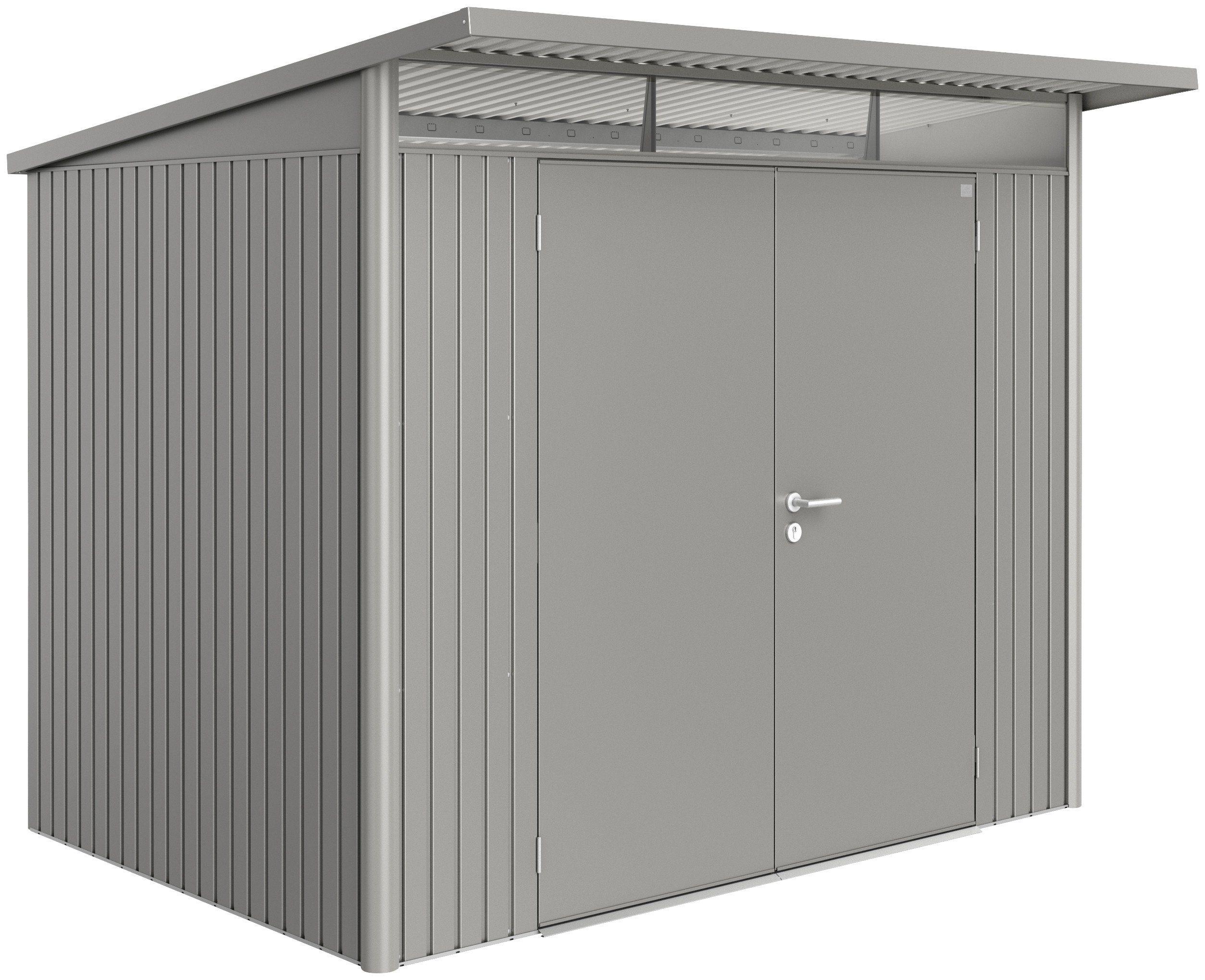 BIOHORT Stahlgerätehaus »AvantGarde L«, BxT: 257x177 cm, quarzgrau-metallic