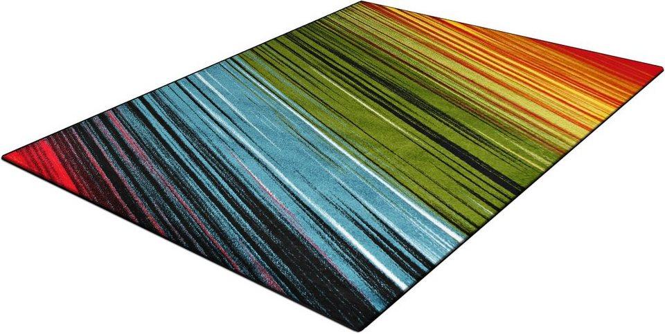 Teppich, Trend-Teppiche, »Kolibri 11009«, Streifen-Design in grün