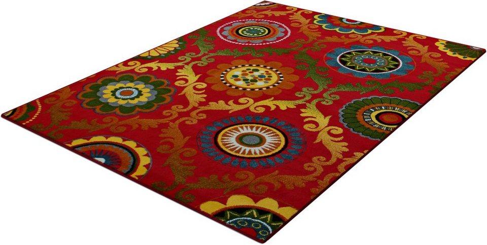 Teppich, Trend-Teppiche, »Kolibri 11003«, Barock Design in rot