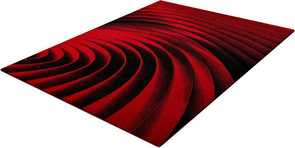Teppich, Trend-Teppiche, »Kolibri 11006«, gewebt in rot