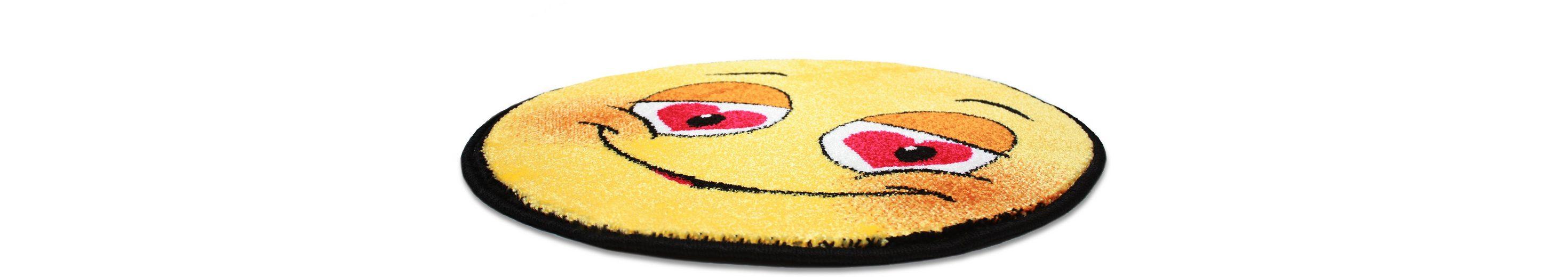 Teppich Rund, Trend-Teppiche, »Kolibri 11082«, Smiley Design