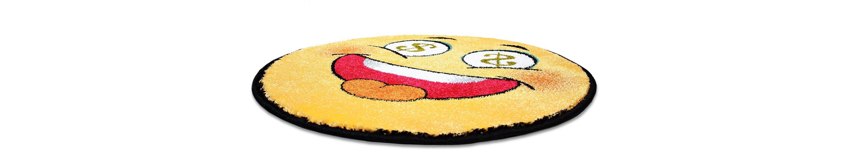 Teppich Rund, Trend-Teppiche, »Kolibri 11083«, Smiley Design