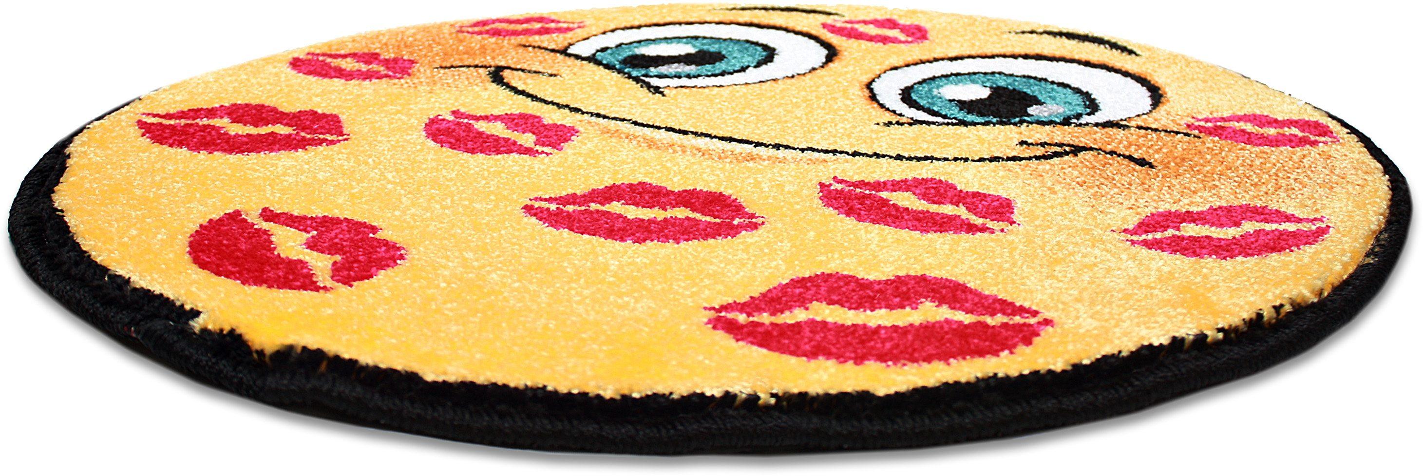 Teppich »Kolibri 11085«, Trend Teppiche, rund, Höhe 11 mm, Smiley Design