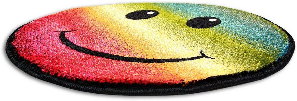 Teppich Rund, Trend-Teppiche, »Kolibri 11089«, machinell erstellt in gelb