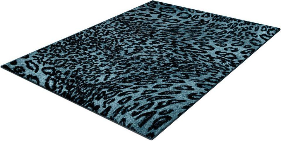 Teppich, Trend-Teppiche, »Kolibri 11066«, Leoparden Design in blau