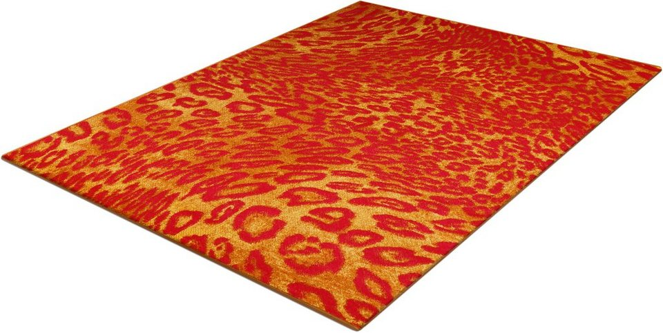 Teppich, Trend-Teppiche, »Kolibri 11066«, Leoparden Design in orange