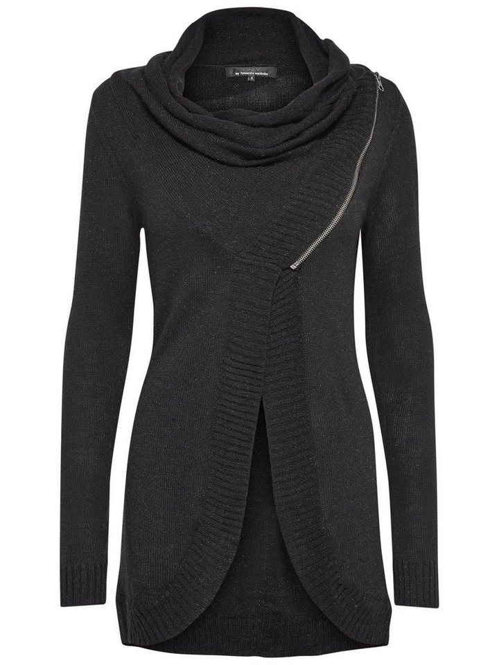 Only Lang Strick-Cardigan in Black