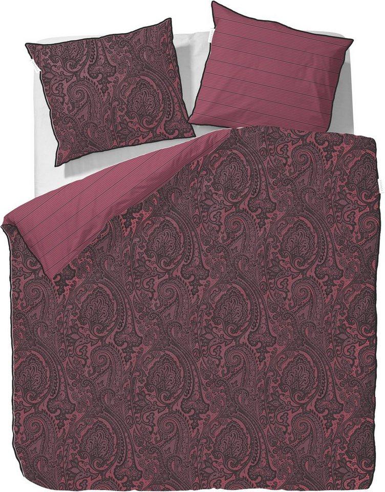 wendebettw sche essenza filan mit gestreifter. Black Bedroom Furniture Sets. Home Design Ideas