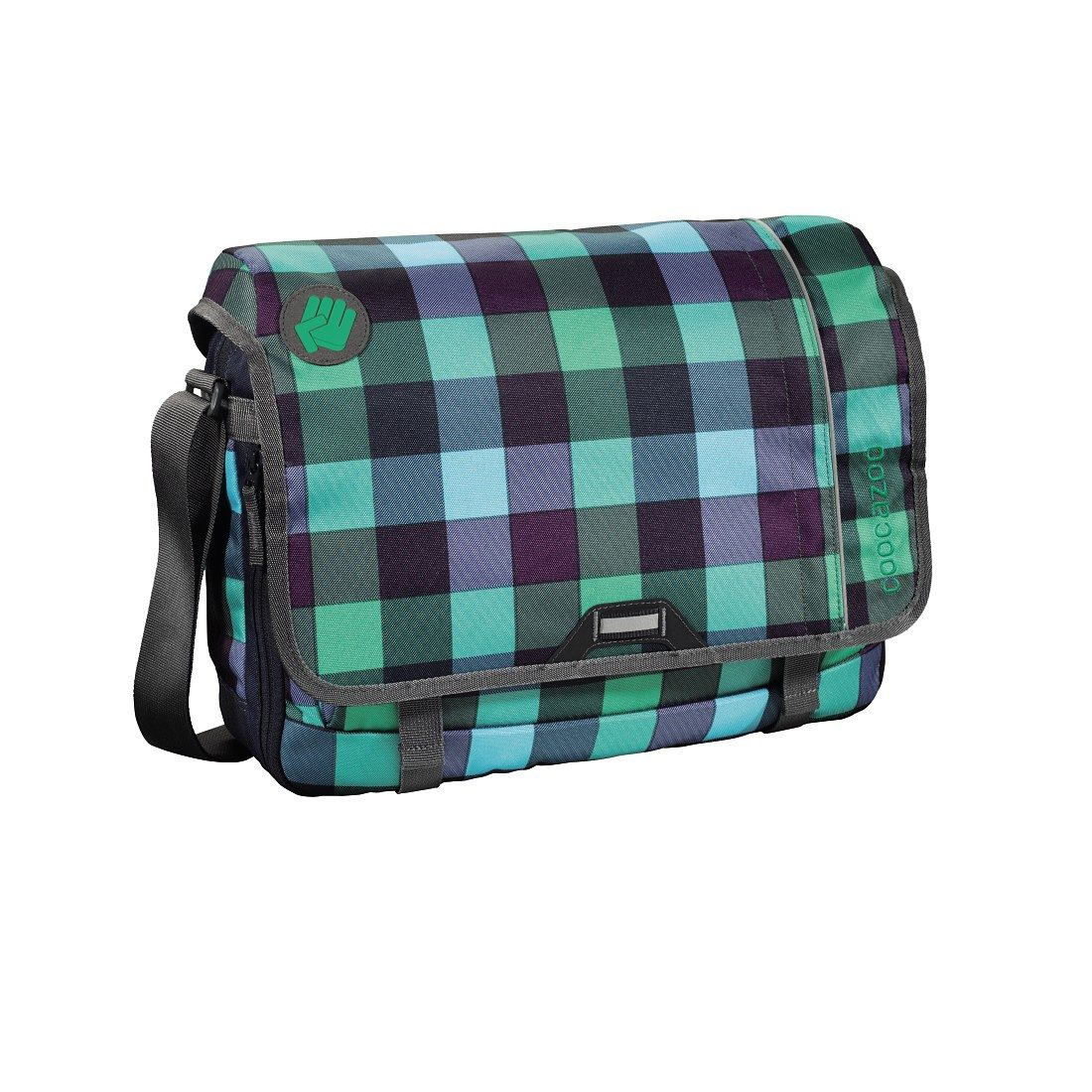 Coocazoo Schultertasche HangDang, Green Purple District