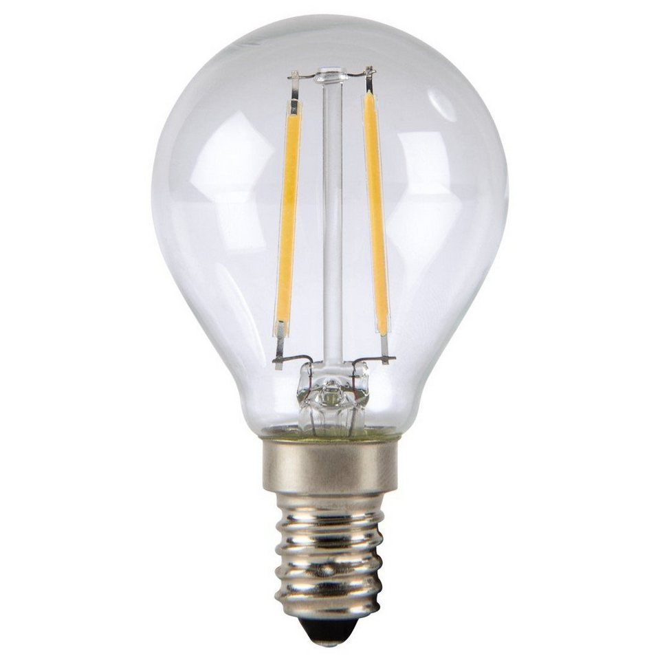 Xavax LED-Lampe, 2,4W, Tropfenform, Filament, E14, Warmweiß in Silber