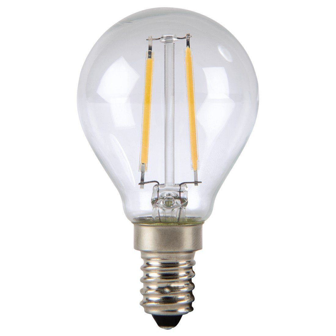 Xavax LED-Lampe, 2,4W, Tropfenform, Filament, E14, Warmweiß