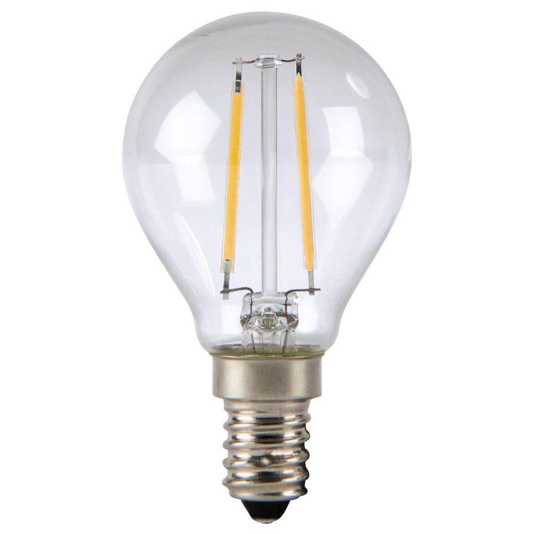 Xavax LED-Lampe, 2,4W, Tropfenform, Filament, E14, Warmweiß