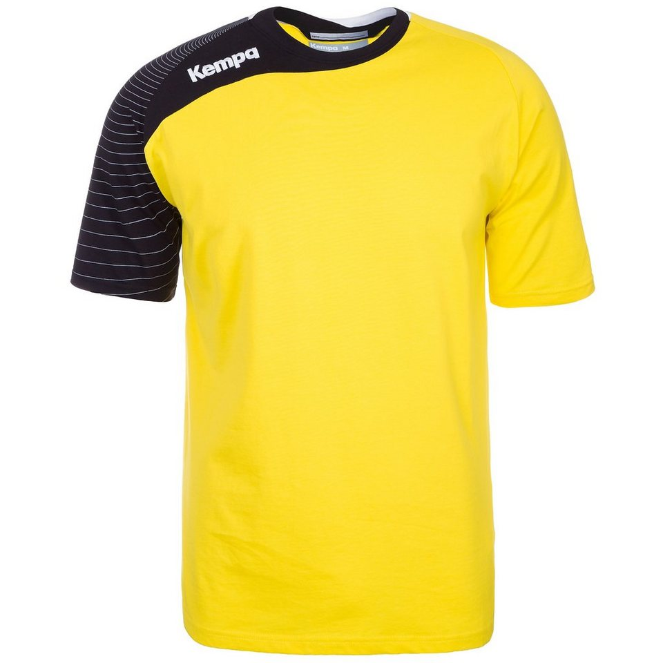 KEMPA Circle Trainingsshirt Kinder in limonen gelb/schwarz